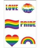 Pride tattoos tatoeages plakkers stuks