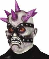 Punk zombie horror masker latex