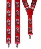 Rode bretels bloemen volwassenen