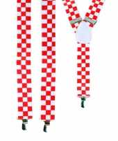 Rood wit geblokte bretels