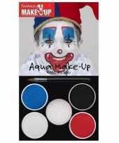 Schmink set horror clown kleuren