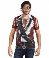 Shirt piraat print