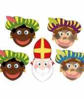 Sinterklaas zwarte pieten sinterklaas maskers setje 10096302