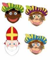 Sinterklaas zwarte pieten sinterklaas maskers setje