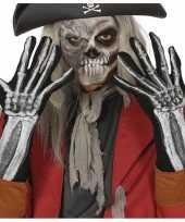 Skelet horror verkleed handschoenen volwassenen