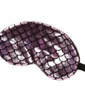Slaapmasker oogmasker zeemeermin roze zwart volwassenen