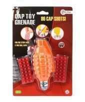Speelgoed handgranaat plaffertjes schoten oranje c