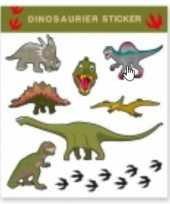 Tattoo stickers dinosaurussen stuks