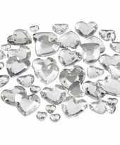 Transparante hartjes diamanten stuks