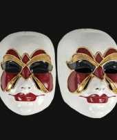 Venetiaanse maskers vlinder