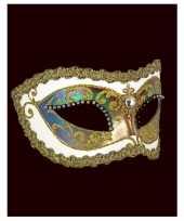 Venetiaanse oogmaskers barok wit strass