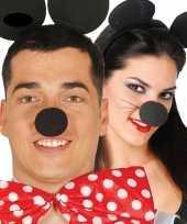 Verkleed neus mickey zwart