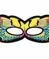 Vlinder oogmasker gele zwaluwstaart kinderen