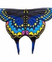 Vlinder verkleed vleugels kids zwarte zwaluwstaart