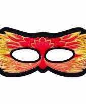 Vuurvogel oogmasker rood geel kinderen