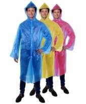 Wegwerp regenjas poncho blauw