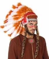 Wit oranje luxe indianen tooi heren