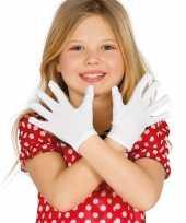 Witte verkleed handschoenen kinderen