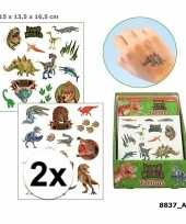 X afwasbare tattoos dino world kinderen