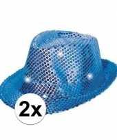 X blauwe hoeden volwassenen licht