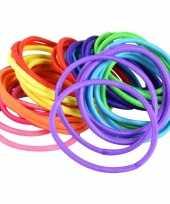 X gekleurde haarelastieken