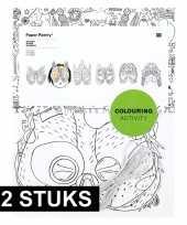 X knutsel papieren maskers om te kleuren kinderen 10158157