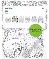X knutsel papieren maskers om te kleuren kinderen