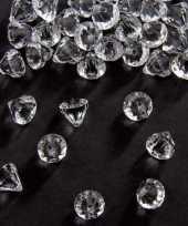 Zakje gram deco diamantjes transparant mm