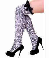 Zebra print overknee kousen