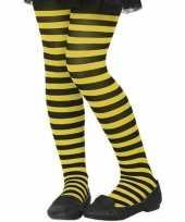 Zwart gele verkleed panty kinderen
