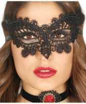 Zwart kanten oogmasker dames 10124296