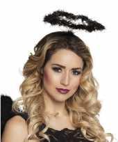 Zwarte engel verkleed diadeem tiara halo