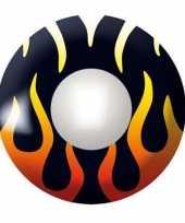 Zwarte kleurlenzen vlammetjes