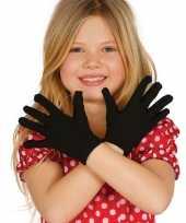 Zwarte verkleed handschoenen kinderen